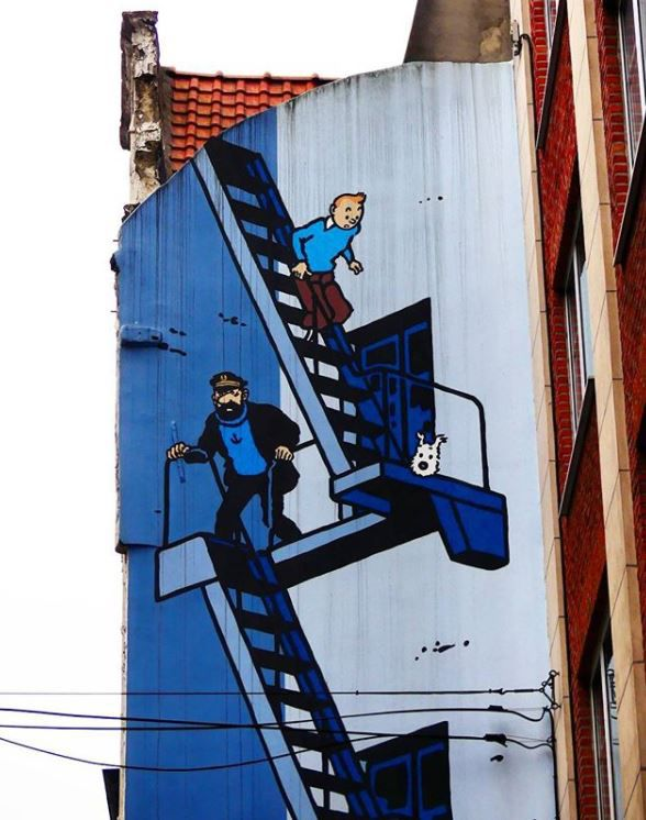Tintin Comic Mural // Brussels