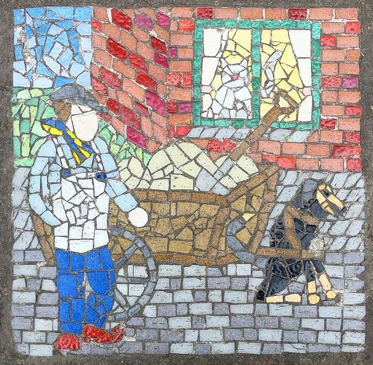 Nice mosaic tile // Brussels
