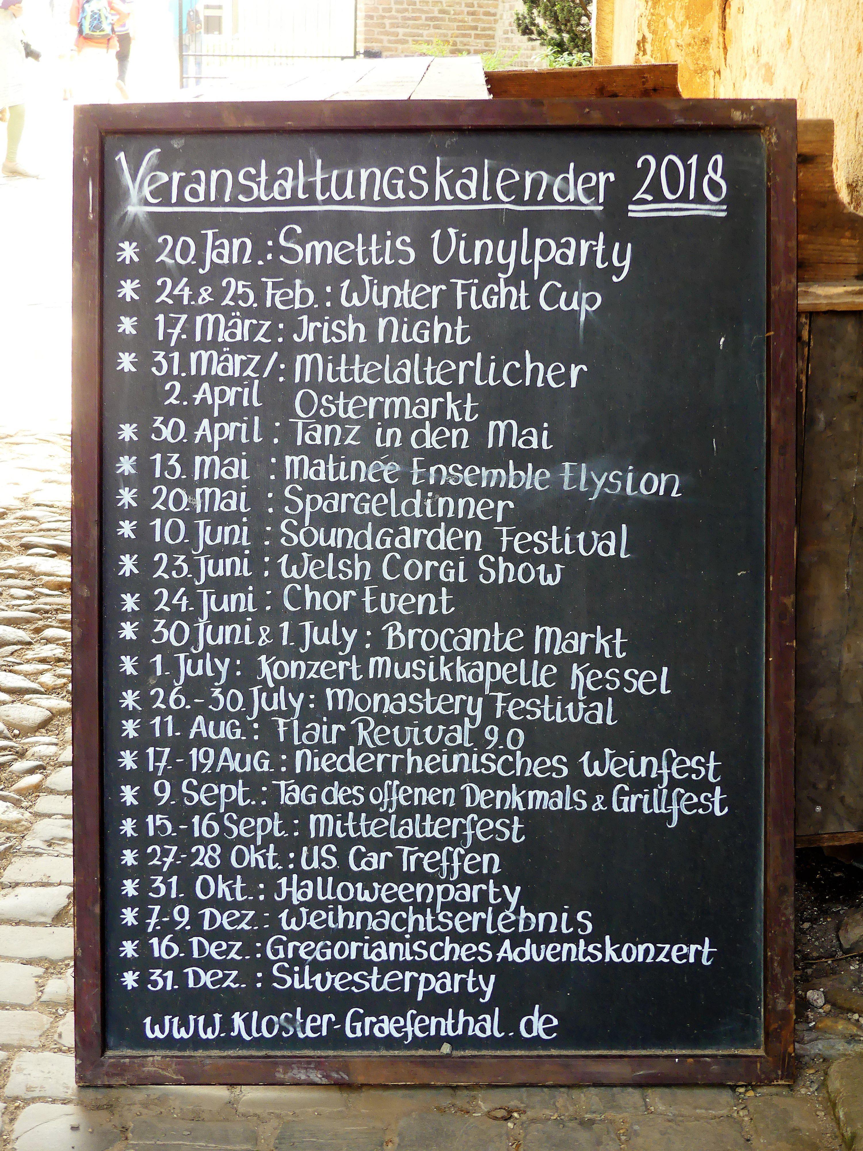 Evenementen in Klooster Graefenthal.